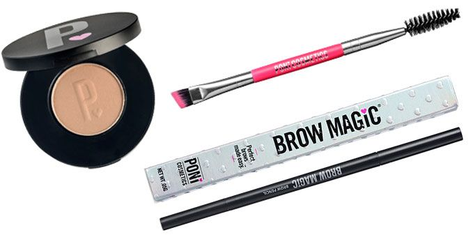 PONi COSMETICS beauty products to use for filling in your eyebrows