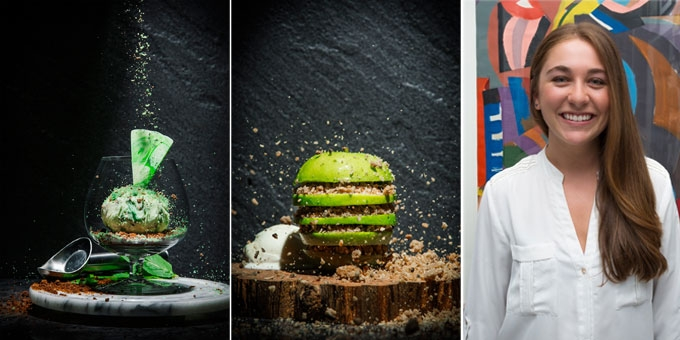The 'singing chef', Sienna Wedes from Patissienna has created an artistic series of desserts that are too pretty to eat!