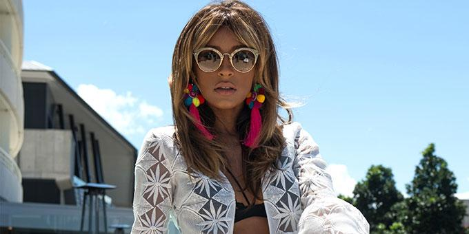 Melody Thornton surprised us with her captivating authoritative nature which evokes an easy elegance and polished image. Hard working confident and focused she's living the balancing act of glamour and guts.