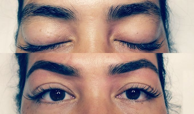 Brow Mantra before and after shots