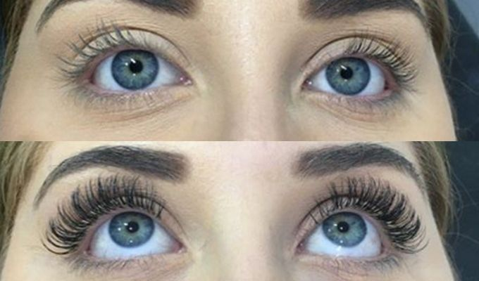 Lash Xtend and beauty before and after