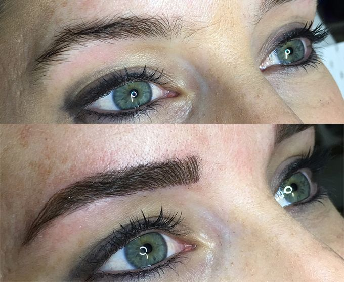 Visual Beauty Australia brows before and after