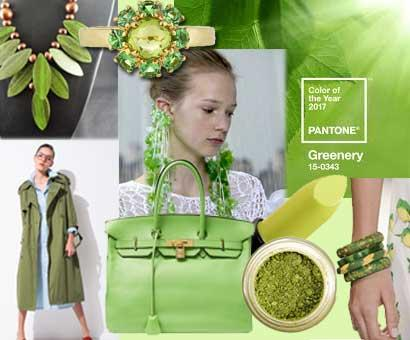 Pantone's fashion colour trend of 2017 is Greenery