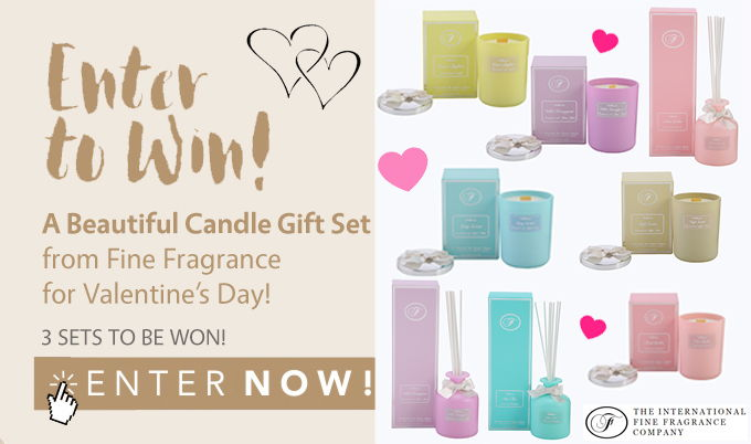 Win a beautiful candle gift set from Fine Fragrance for V Day