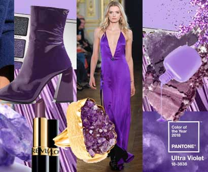 Fashion colour trend of 2018 is Ultra Violet