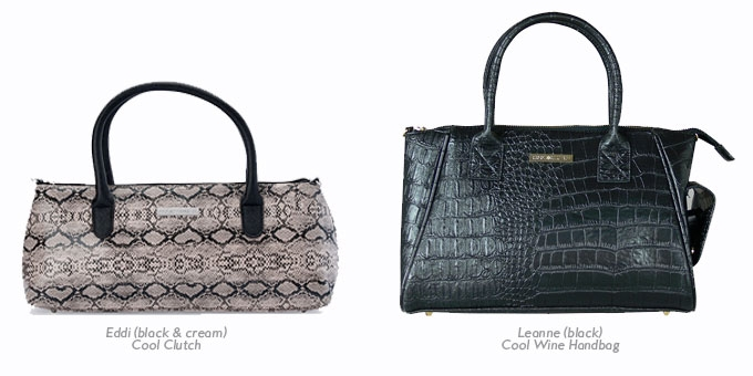 Cool Clutch and Cool Wine Handbag collection from Cool Clutch