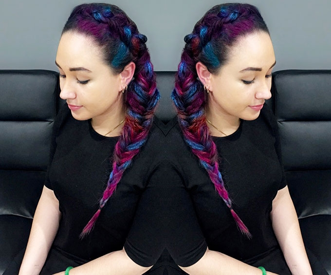 Trend Alert: Crazy colourful festival braids