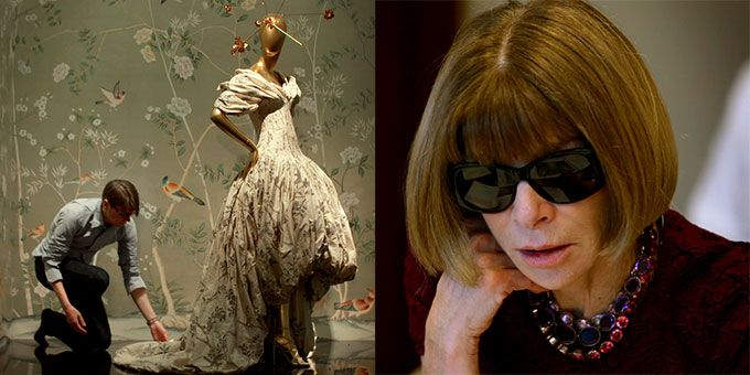 Anna Wintour and Andrew Bolton in The First Monday in May film