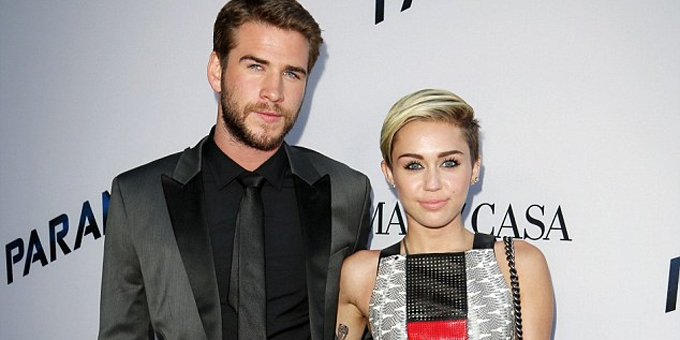 Miley Cyrus and Liam Hemsowrth engaged