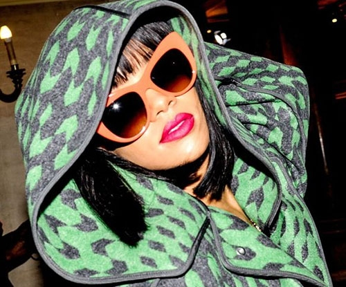 Rihanna's outrageous green outfits