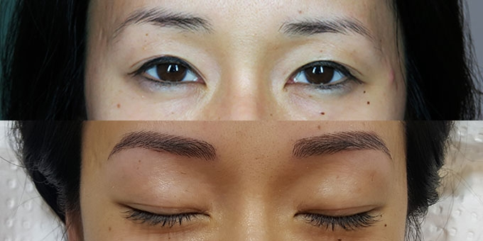 Lash Life is eyebrow before and after