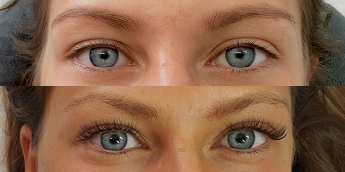 Lash Life eyelash extension before and after