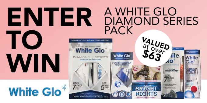 Win a White Glo Diamond Series Pack Valued at Over $63.00!