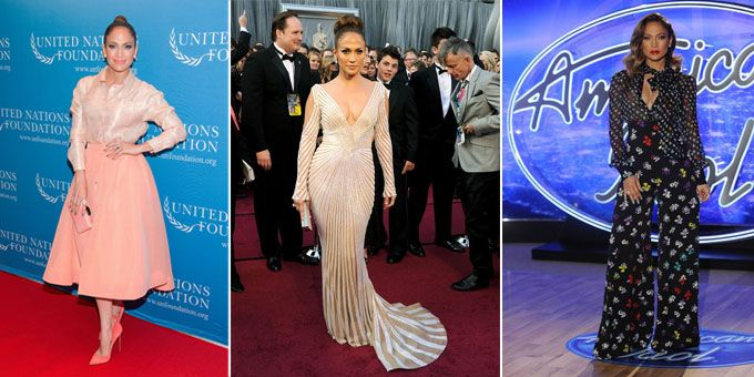 Jennifer Lopez outfits at award ceremonies