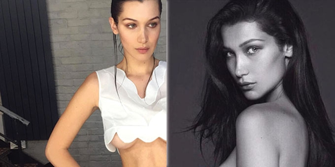 Hot Damn! Bella Hadid leaves little to the imagination.