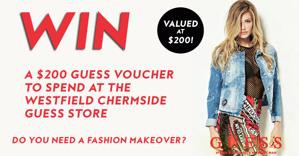 Would you like to be in the running to win a $200 Guess gift voucher! Well, then this competition is for you!