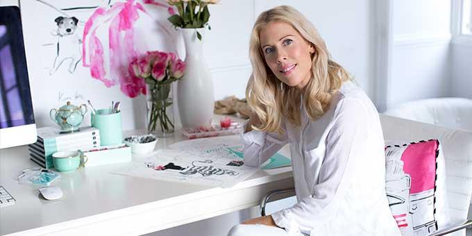 World renowned fashion illustrator, Kerrie Hess shares her tips to a creating an Instagrammable home.