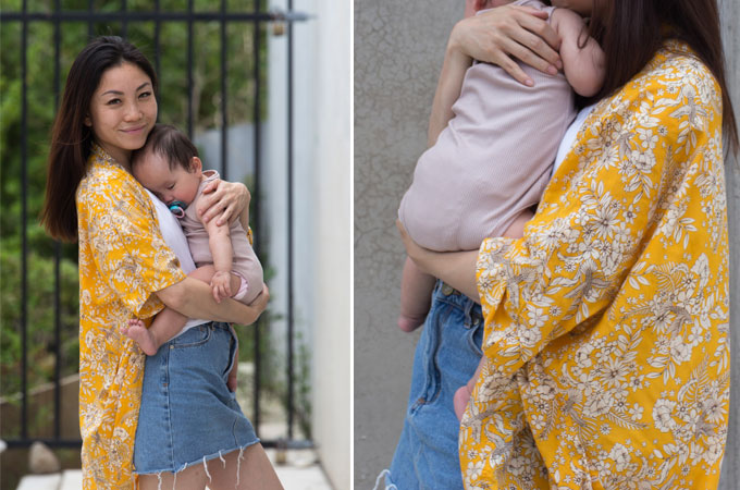 Mummy Couture Kimonos are must-have staple in every mama's wardrobe.