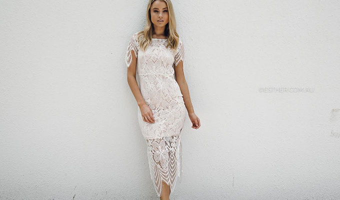 Online store Esther Boutique Esther Essentials clothing range white dress