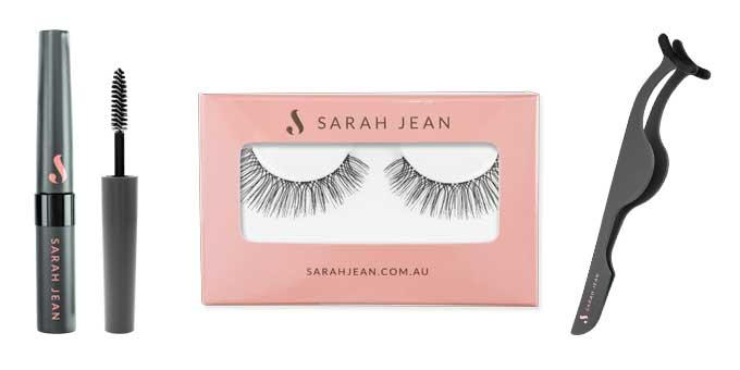 Want to stun the masses? The secret is with voluminous false eyelashes by Sarah Jean.