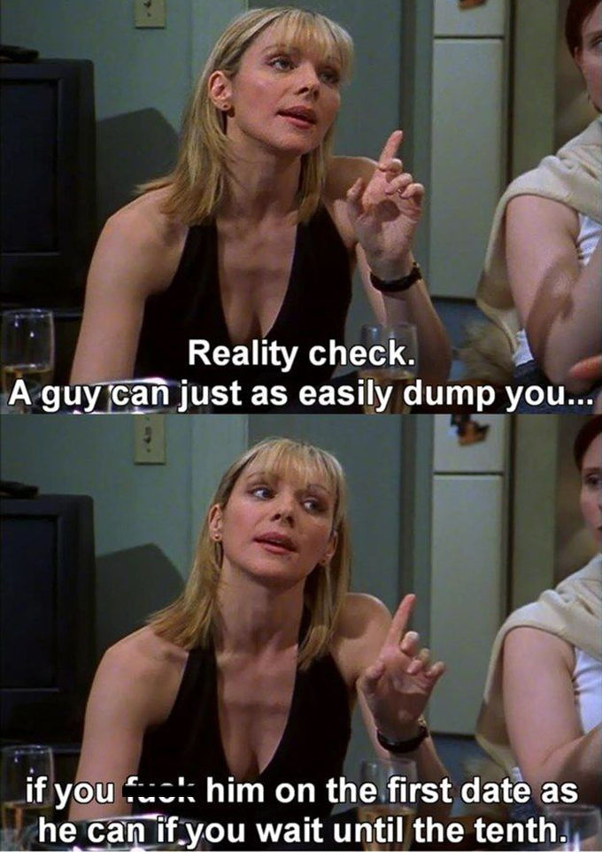 Samantha Jones from Sex and the City gives sex advice