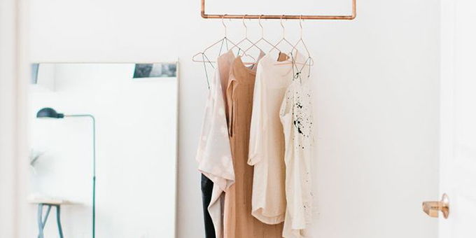 Pastel clothes rack