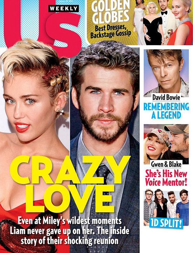 Miley Cyrus and Liam Hemsworth in US Weekly