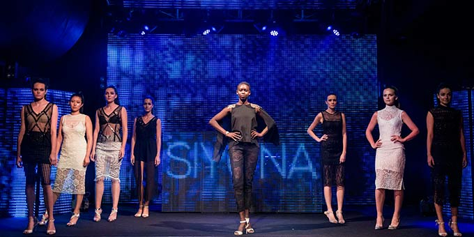 Siyona references glamour and luxury with beautifully beaded fashion staples.