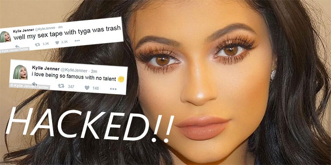 Kylie Jenner hacked and played it off 'oh so cool'