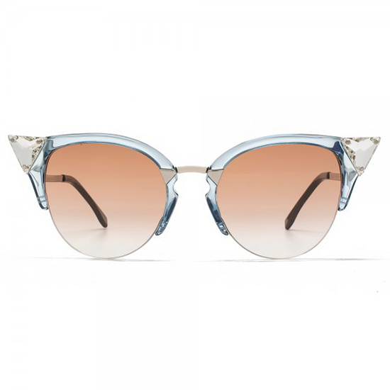 Fendi Crystal Cateye Sunglasses, $435.20