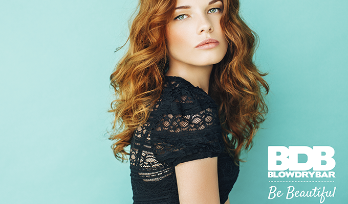 Red head model for Blow Dry Bar