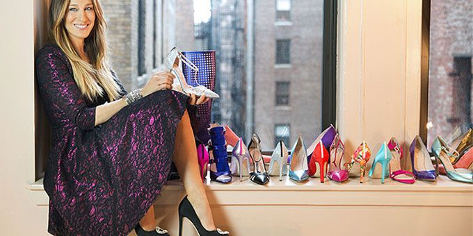 Carrie Bradshaw with designer shoes and top shoe quotes