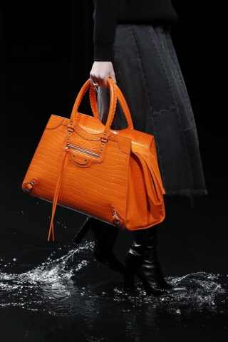 Balenciaga bags in bright colours are the ultimate statement this season.