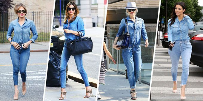 taking inspiration from celebrities wearing denim skinny jeans on the streets