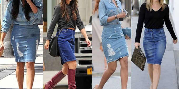 b199a766ff How to wear your denim skirt this autumn like a stylist - Fashion ...
