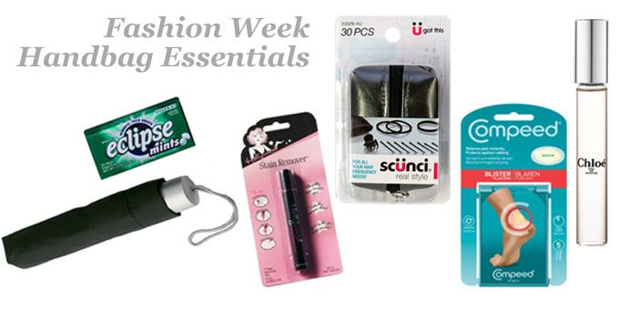 Fashion Week survival guide handbag essentials kit