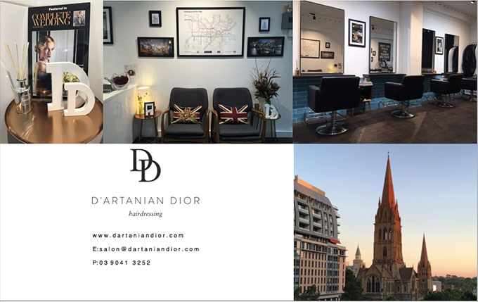 D'ARTANIAN Dior hairdressing is Melbourne's best salon