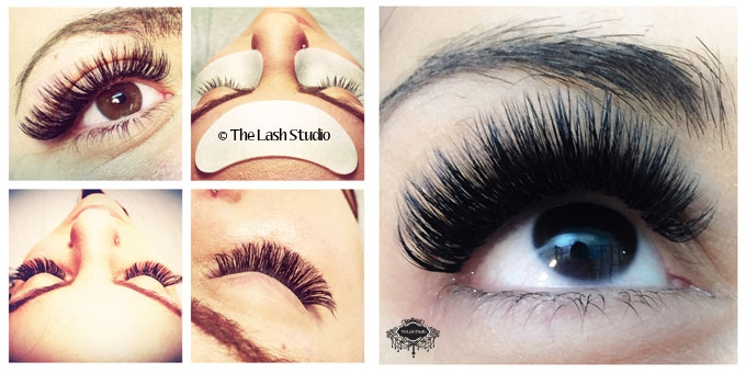 The Lash Studio eyelash extension before and after