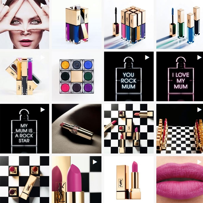 YSL Beauty Dare & Stage Instagram Magazine