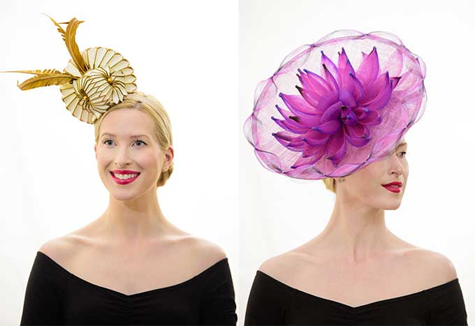Top off your race day look with a stylish hat from Sandy Aslett Milliner