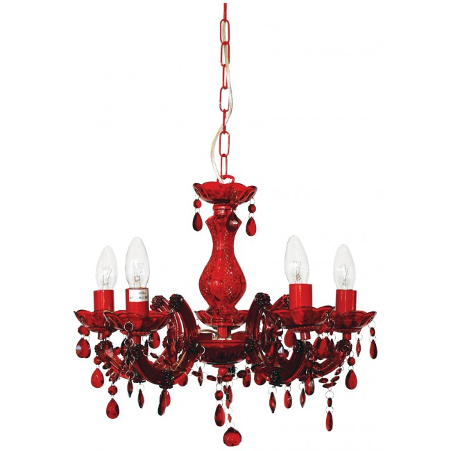 Chandelier Pendant 5 Lights Glass Chrome B22 Marie Therese Oriel Lighting, $219