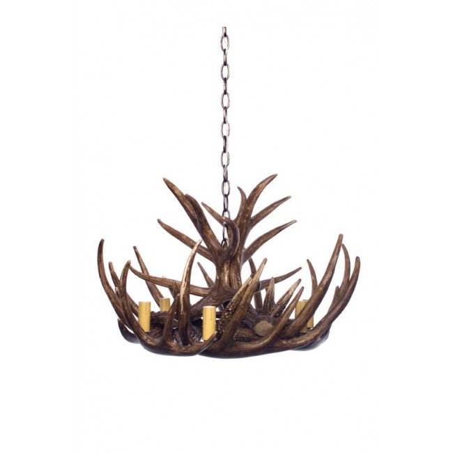 Antler Chandelier 6 Arm In Natural, $1,099